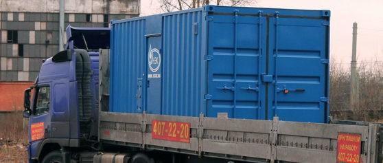 Отгрузка блок-модуля для установки системы водоочистки