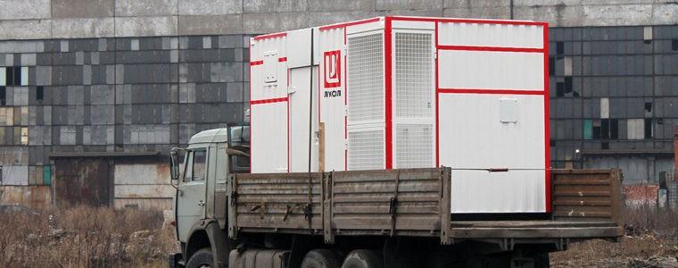 Отгрузка блок-контейнера